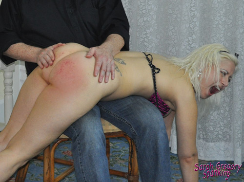 Galas Loonar gets her cute, round bare bottom thrashed