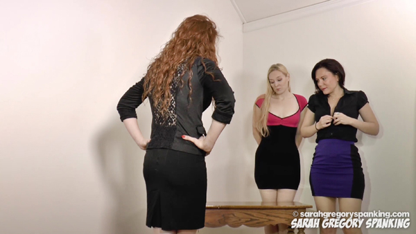 Secretaries Del Hunter and Audrey Sugarsmak get in trouble with their boss for lesbian sex on the desk while at work