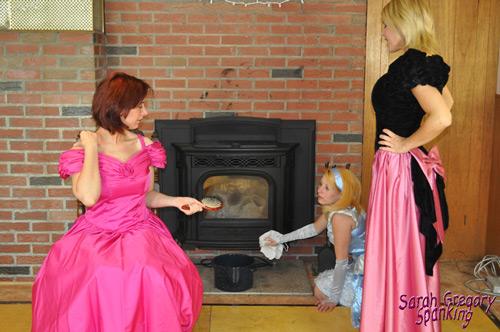The stepsisters find poor Kat doing her chores