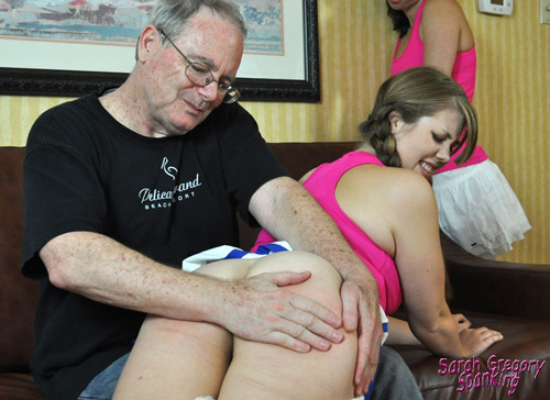 Gorgeous Christy Cutie gets spanked nice and firmly OTK