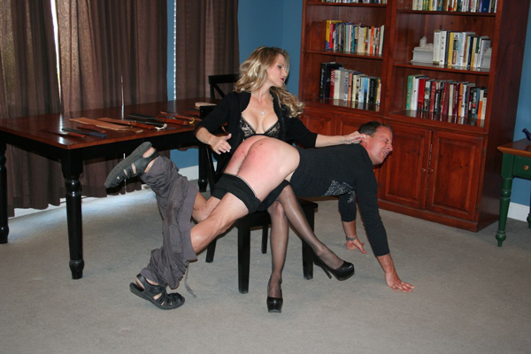 Mistress Aleana spanks Bart in Love, Worship and Submit femdom