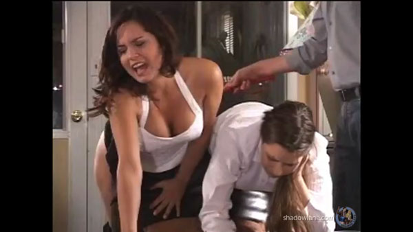 Things get serious for Samantha Woodley when the leather strap is used