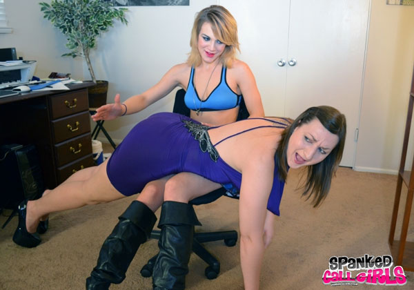 Courtney Shea spanks Pandora Blake