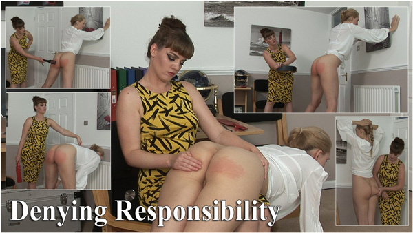 Amelia Jane Rutherford gets punished by Miss Zoe Page in Denying Responsibility