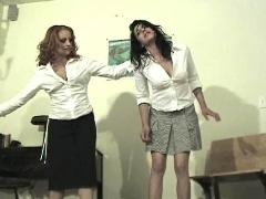 Mistress Gemini spanks a naughty girl