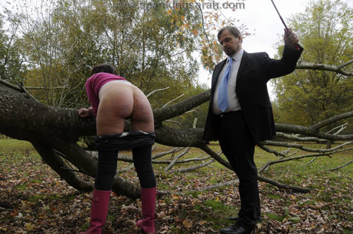 Sarah's lovely bottom gets 20 hard strokes of the cane