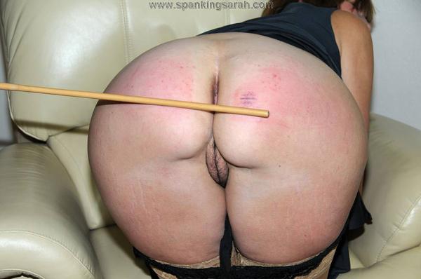 Sarah's close-up bare bottom caning