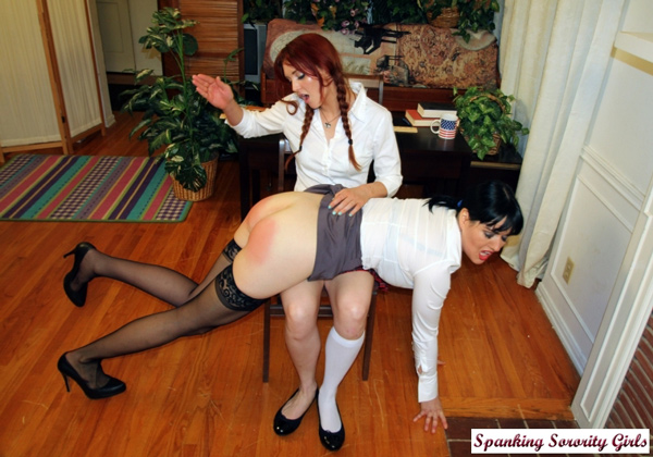 Teacher Snow Mercy gets Spanked OTK by Veronica Ricci