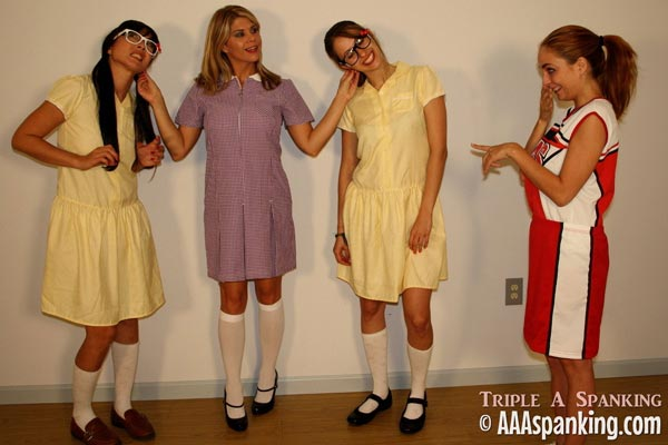 Two geeks, a cheer leader and the head girl are in detention together