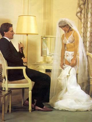 real wedding night spanking