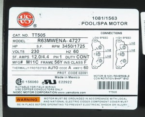 Waterway Spa Pump 37216211W EX2 Aquaflo XP2e Replacement