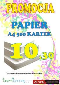 Papier A4 - Promocja - ryza 500 kartek