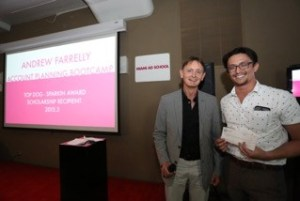 New York 2015 Winner Andrew Farrelly with Stuart Parkin