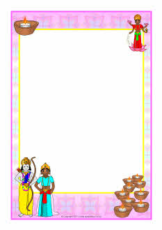 Diwali A4 Page Borders SB5801 SparkleBox