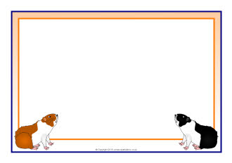 Guinea Pig A4 Page Borders SB9115 SparkleBox