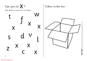 Letter X Phonics Activities And Printable Teaching