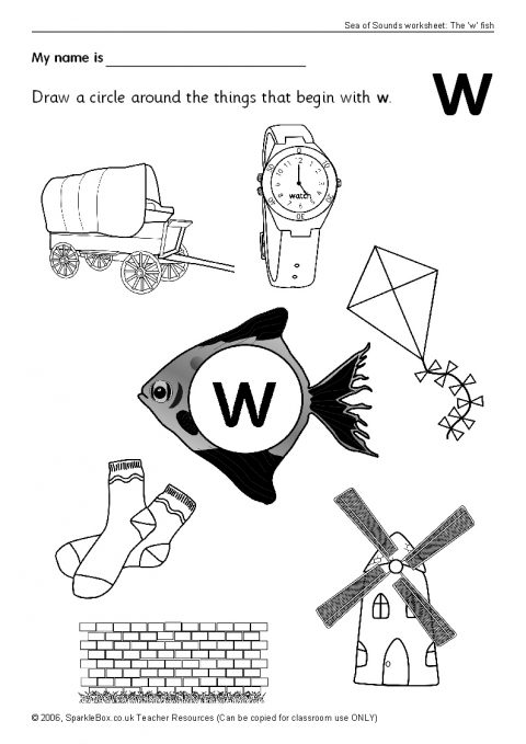 Letter W Worksheets Sb503