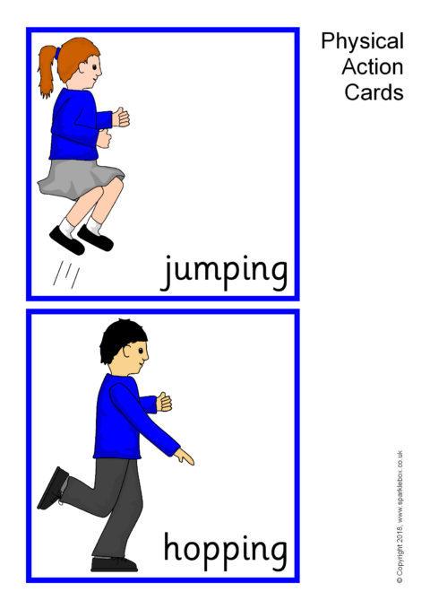 Physical Action Cards Sb3161 Sparklebox