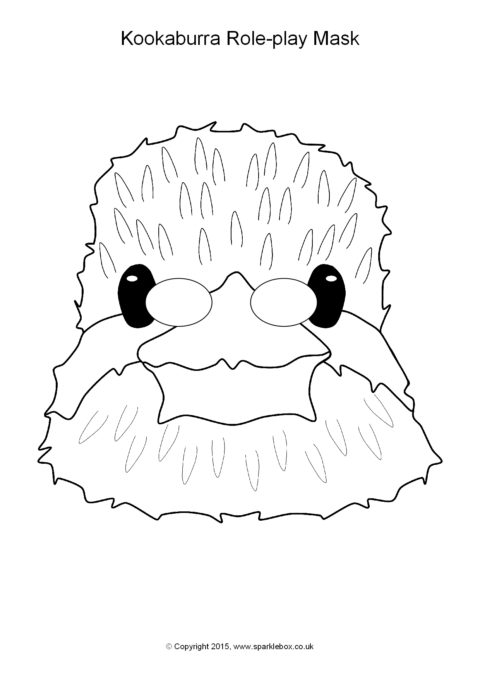Kookaburra Role Play Masks SB11184 SparkleBox