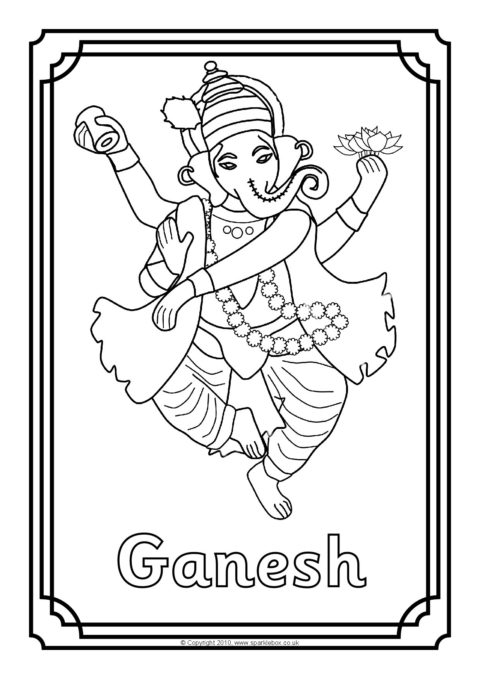 Colouring Sheets Depicting Various Hindu Deities Preview