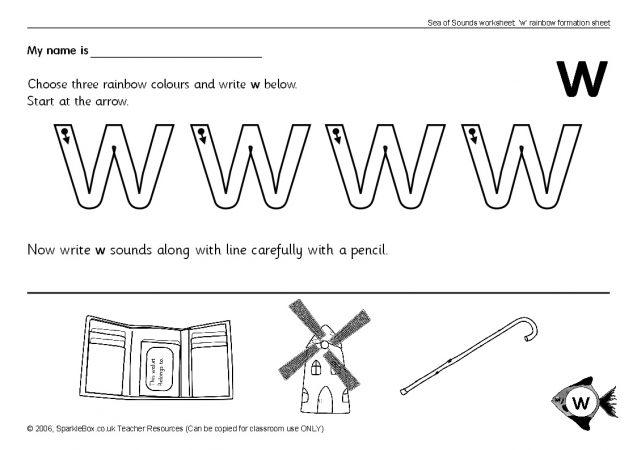 Letter W Worksheets Sb503