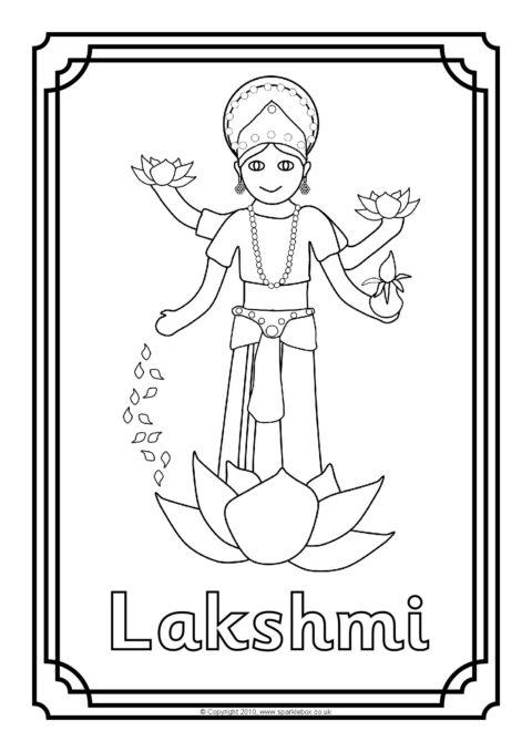 Hindu Gods Colouring Sheets
