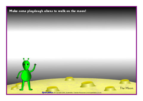 Space Themed Playdough Mats SB1890 SparkleBox