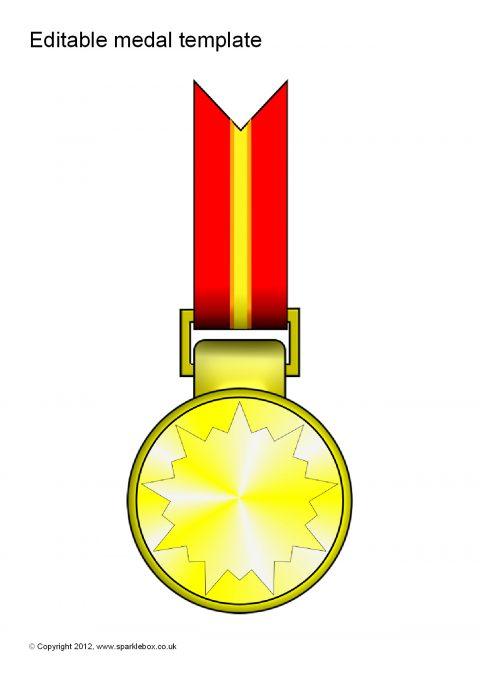 Editable Medal Templates Sb7702 Sparklebox
