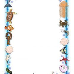 Ocean Themed A4 Page Borders Sb3881 Sparklebox Under