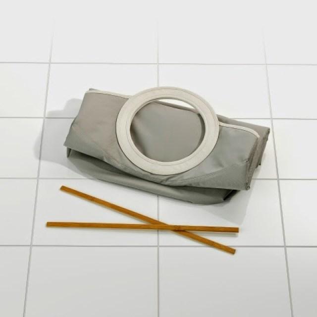 100840-Laundrybag-Warm-Grey-DETAIL-Flat Home/Design: BRABANTIA LAUNDRY BAG innovativa e versatile borsa per la biancheria