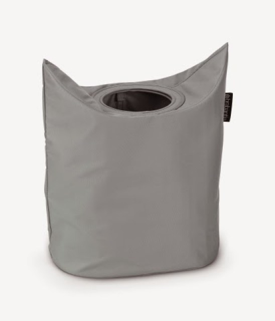 102448-Laundry-Bag-Oval-Grey-01 Home/Design: BRABANTIA LAUNDRY BAG innovativa e versatile borsa per la biancheria