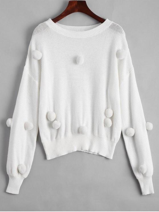 sweater Zaful maglione bianco