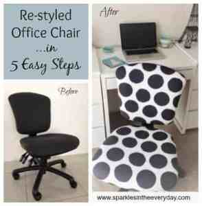 re-styled office chair in 5 easy steps