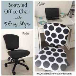 DIY Re-styled office chair in 5 easy steps….