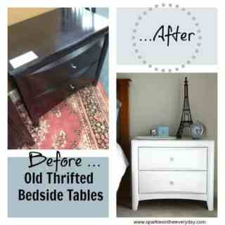 Thrifted Bedside Tables….Before and After!
