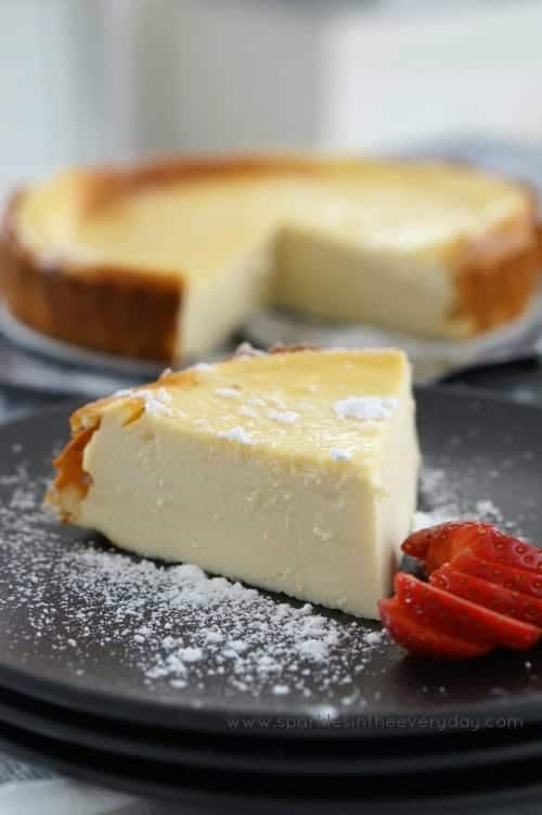 Easy Gluten Free Baked Ricotta Cheesecake