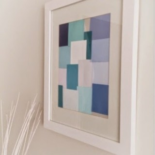 Adding Colour…Modern Art with Paint Swatches!