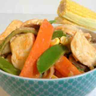 Stir-fry with Easy Peanut Sauce!