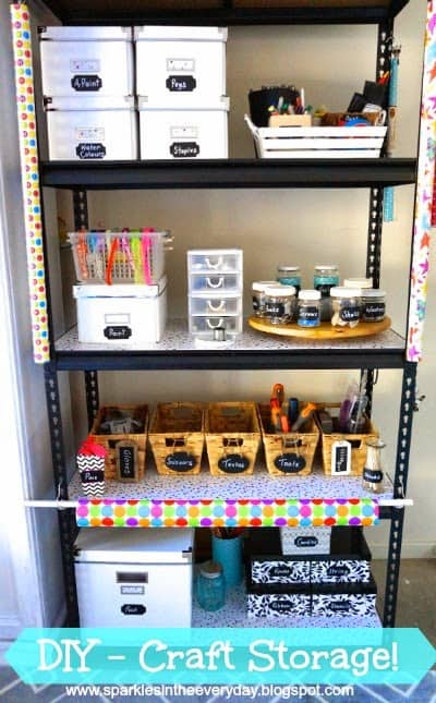 DIY Organised Craft Storage