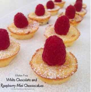 White Chocolate and Raspberry Mini Cheesecakes!