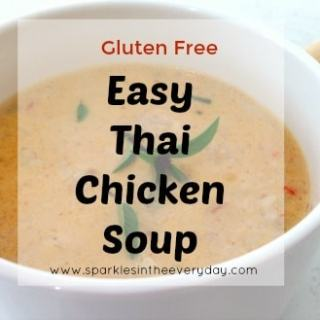 Easy Thai Chicken Soup – GF!