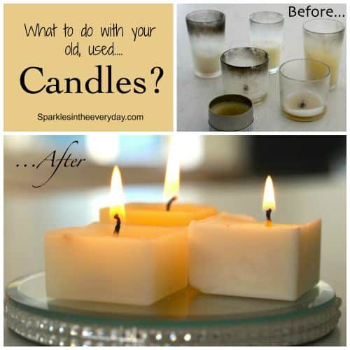 What to do with your old, used candles?