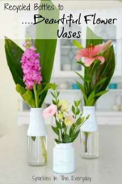 From recycled bottles to beautiful vases