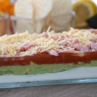 Easy Gluten Free 5 Layer Dip for Entertaining!