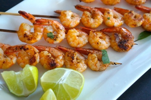 Coconut and Lime BBQ Prawns