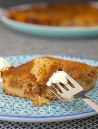 Easy Gluten Free Cinnamon Tea Cake with cream