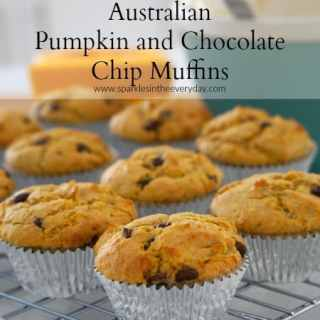 Australian Pumpkin and Chocolate Chip Muffins (GF)
