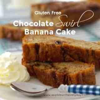 Gluten Free Chocolate Swirl Banana Cake!