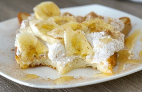 Easy Gluten Free Breakfast Healthy Ricotta, Honey and Banana on Toast