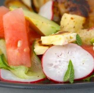 Grilled Halloumi, Radish and Watermelon Salad!